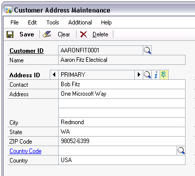 customer address window