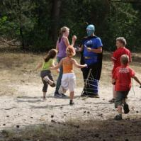 Allemaal op pad om superkoekiemonsterman te bevrijden!