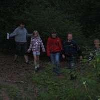 In het (bijna) donker in het bos