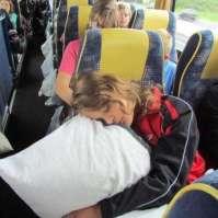Marit slaapt op de terugweg naar Dordrecht