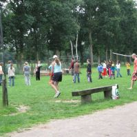 Spelletjes op het veld
