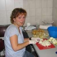 Marian kan niet zo goed tegen uien snijden