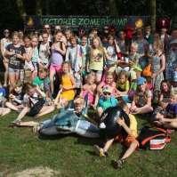 Groepsfoto kinderen Victorie Zomerkamp 2014