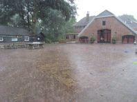 Het regende vandaag flink