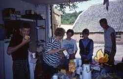 In de keuken