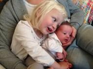 En bild på någon du älskat i år - Ella och June, och förstås Daniel som utgör det stiliga bakgrunden på denna bild.