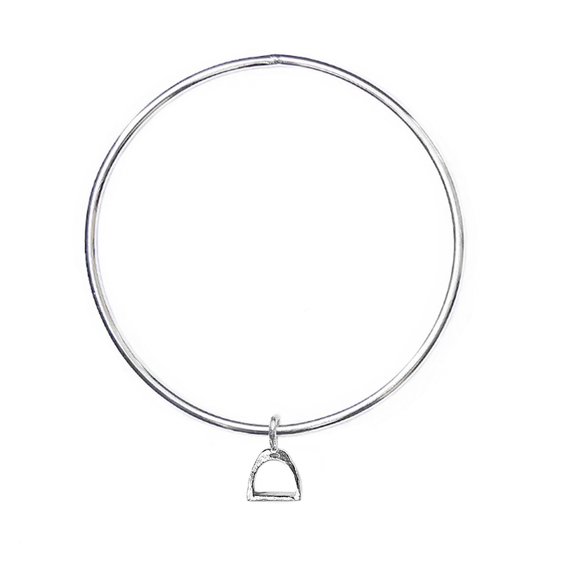 Stirrup Charm Bangle