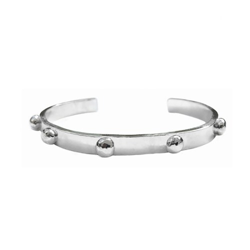 MAXI BLACKBERRY SILVER CUFF BANGLE