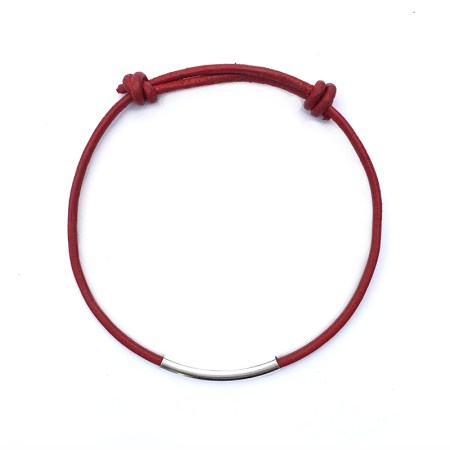 RED LEATHER FRIENDSHIP BRACELET