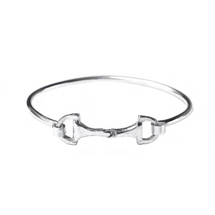 STERLING SILVER SNAFFLE BIT BANGLE