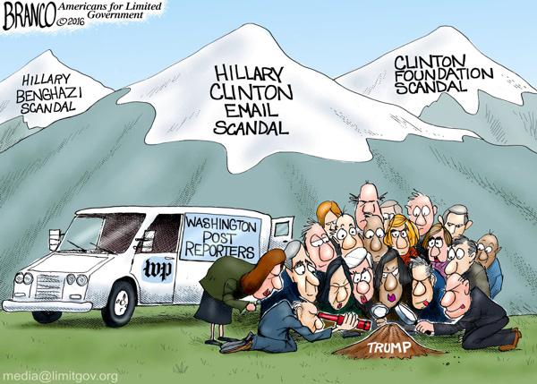 Clinton Mountains vs Trump Molehill
