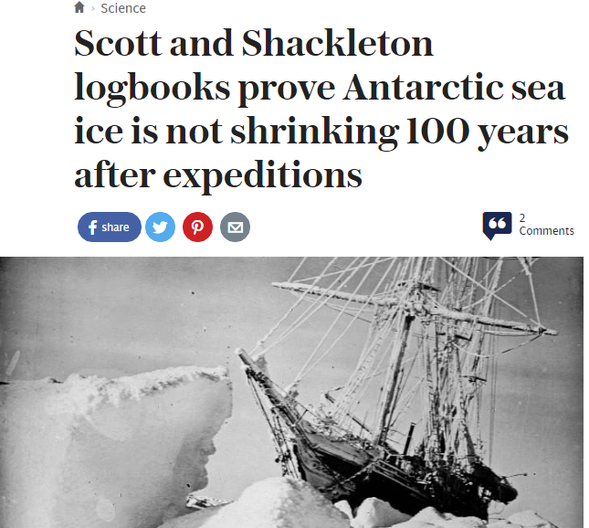 Antarctic Sea Ice Has Not Shrunk In 100 Years | Climate Depot