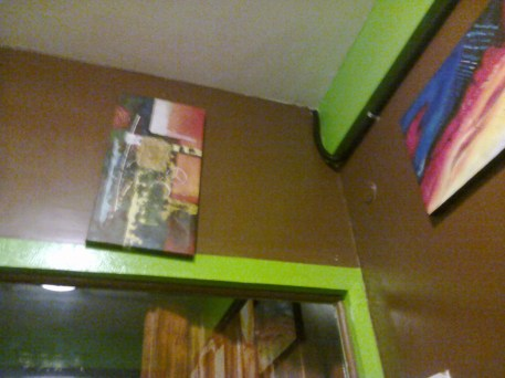 Part of the cool art designs at the Lounge