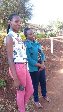 My friend Carol and my siz Annet