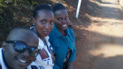 Selfie moment.. Carol, Annet and I