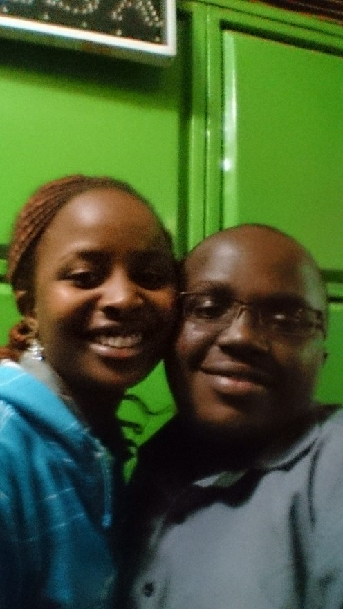 Karen and I after attending the Rotaract club meeting