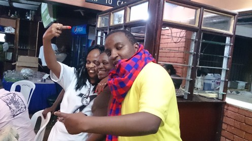 My bro Nesh, Meg and a lady friend during the Friday party at Tavern Club