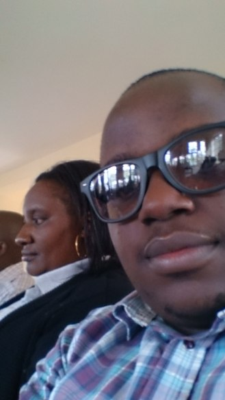 Selfie with colleagues a.k.a superiors, Jeremiah (Business Manager) and Mercy (Senior Teller)