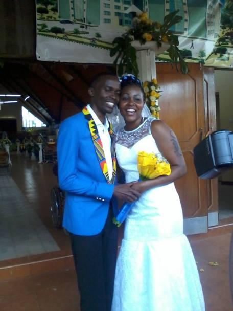 Pitho & Gacheri during their wedding... The Butterfly Wedding