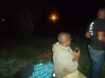 Enjoying my drink during the Bush Party Season 3