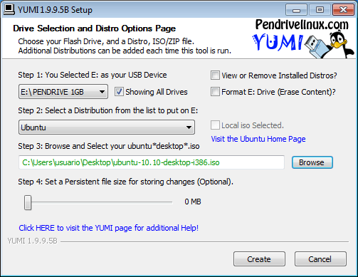 Hacer un usb multibooteable con Yumi 1