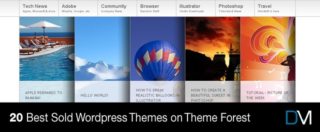 20 Best Sold WordPress Themes on Theme Forest