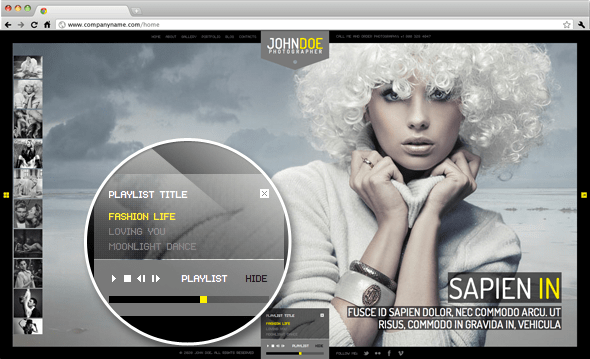 Audio Support WordPress Theme