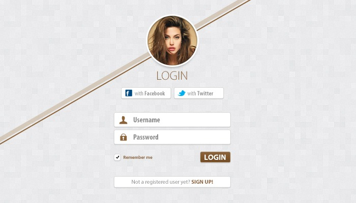 Simple Clean Login Free PSD
