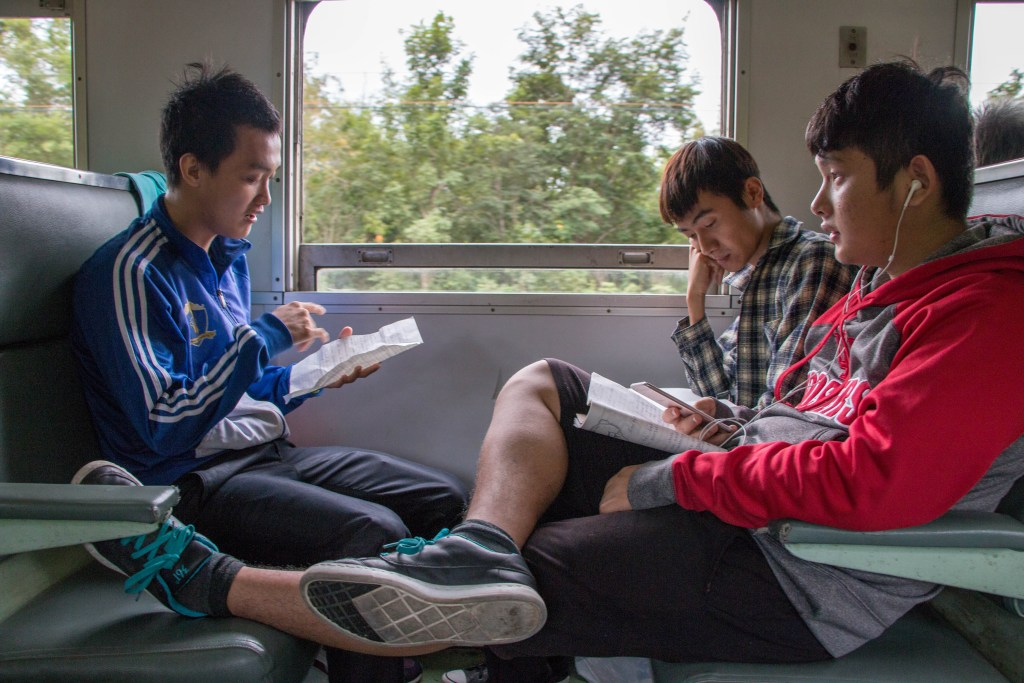 Students studying for a test