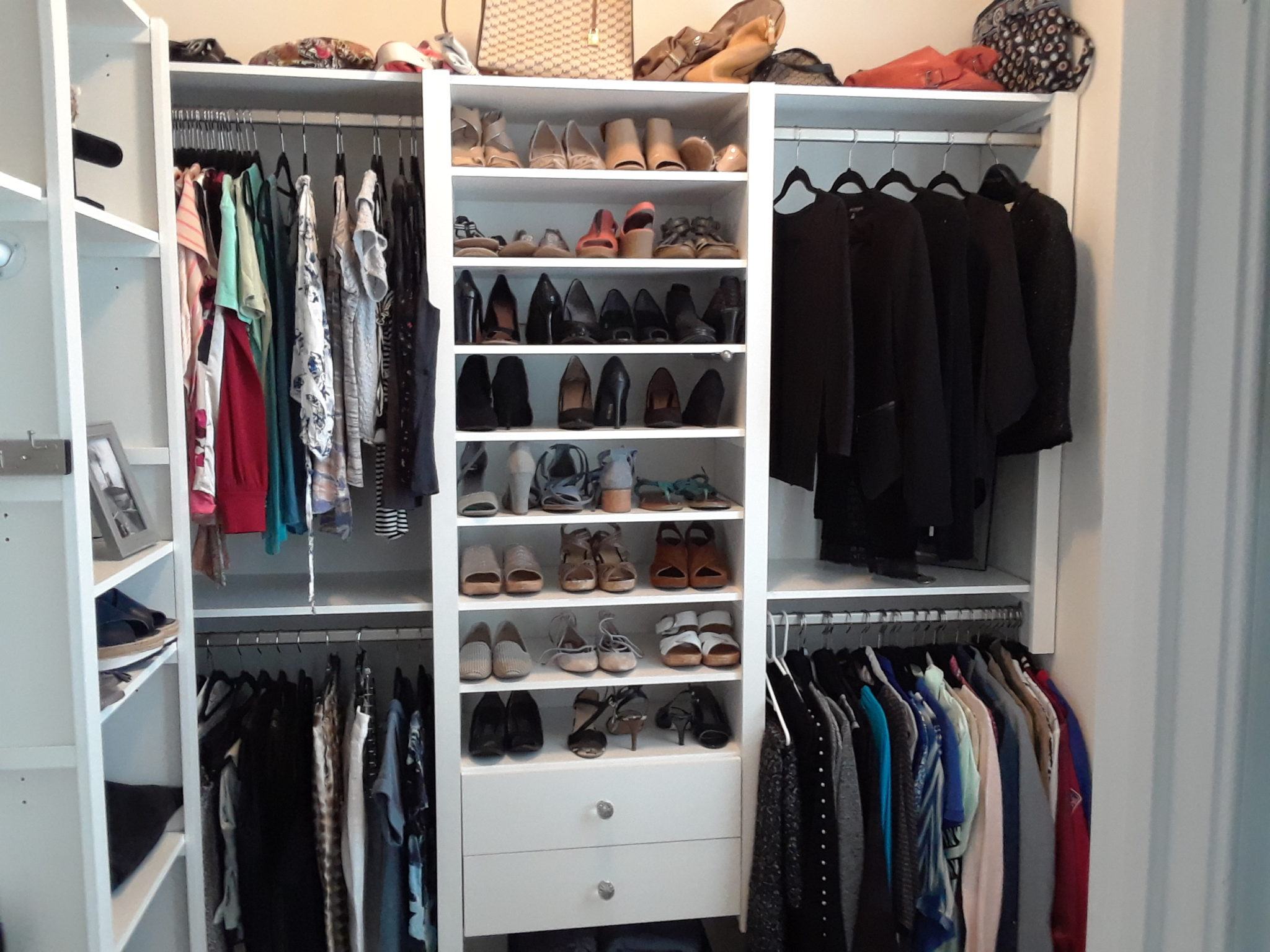 shoe storage in the closet victory