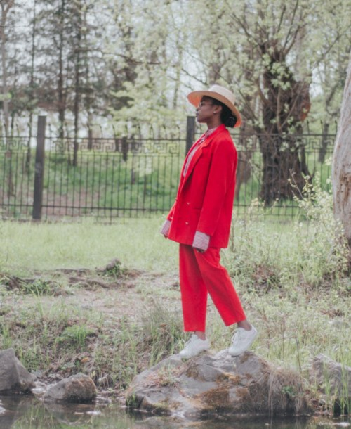 styling red suit