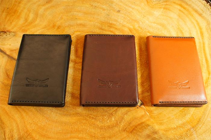 black tan chestnut space station wallets