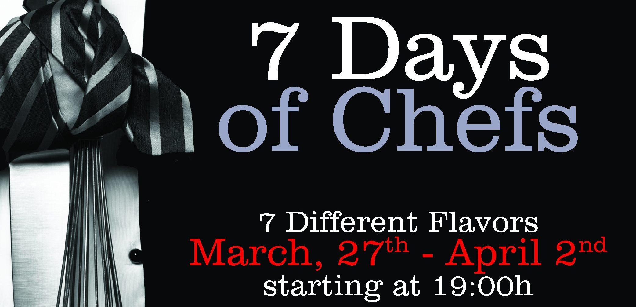 7 Days of Chefs – Menu Tasting