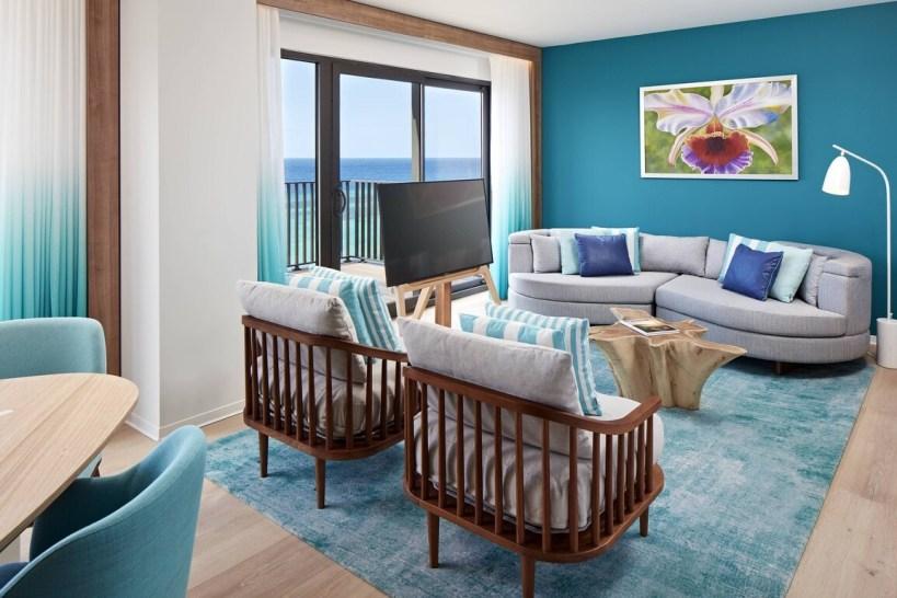 Curacao Marriott Beach Resort - Reef Club Suite - Living Room