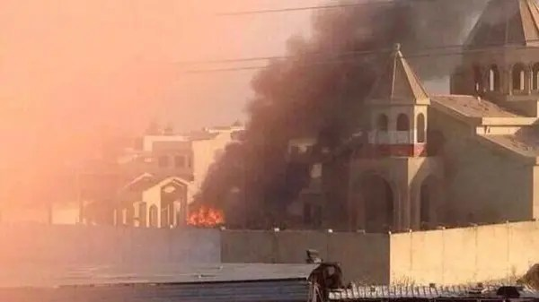 'The burning of the church is the latest in a series of destruction of Christian property in Mosul, which was taken by the Islamist rebels last month.' (c) Al Arabiya, 19th July 2014