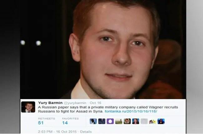 تغريدة الروسي يوري بارمن، منتشرة جداً في مواقع التواصل