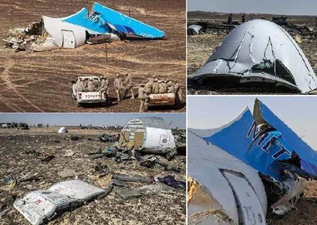 لم تظهر أي آثار لدخان من أثر التفجير، فيما لو أسقط الطائرة عمل ارهابي