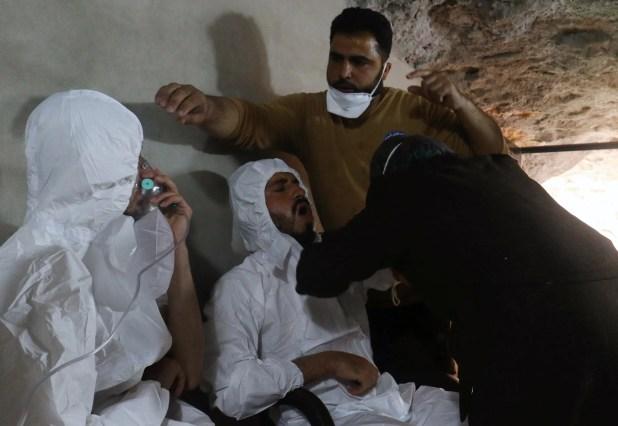 صور من مجزرة كيمياوي ارتكبها النظام في إدلب