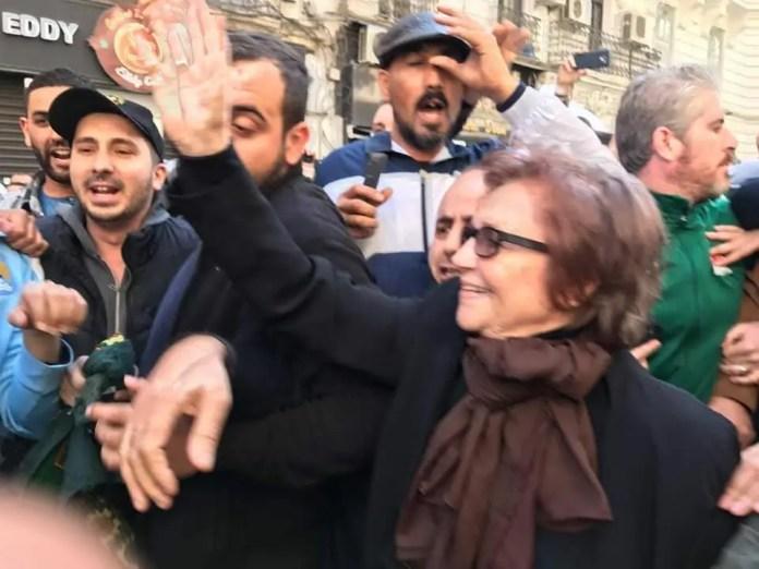 Jamila Bouherd in the movement of Algeria