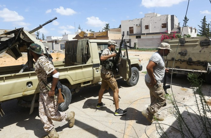 Armed factions within the Al-Wefaq forces in Tripoli (Archives - France Press)