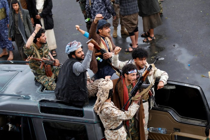 Elements of the Houthi militia in Sanaa (archive - AFP)