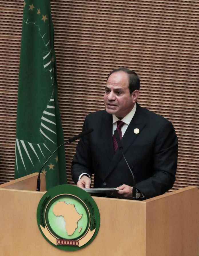 President Abdel Fattah El Sisi called for the formation of an African counter-terrorism force