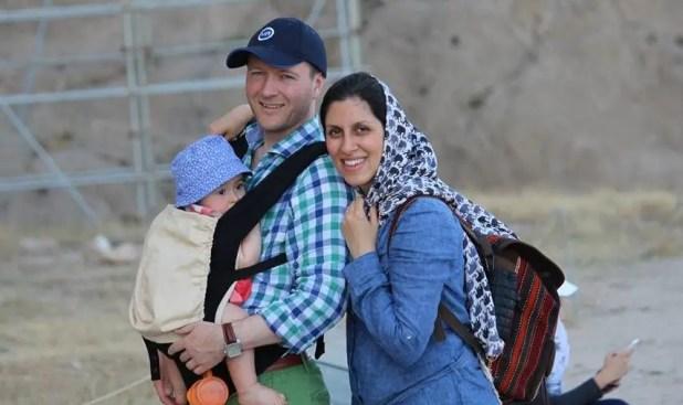 نزانين مع زوجها وطفلتها (أرشيفية)
