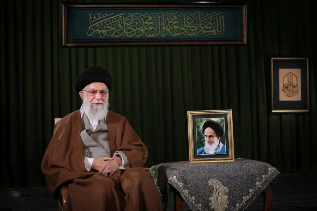 A file photo of Khamenei speaking live on television. (File photo: Reuters)