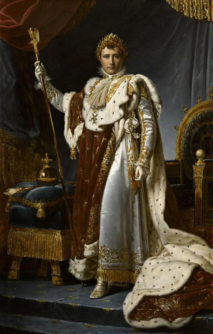 Panel portraying the French Emperor Napoleon Bonaparte