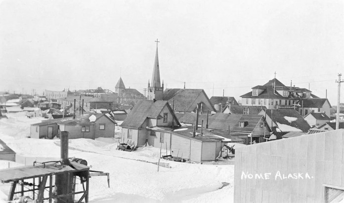 Picture of a village of sleep in 1916
