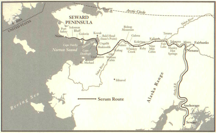 A map showing the path the serum took before entering the city of sleep