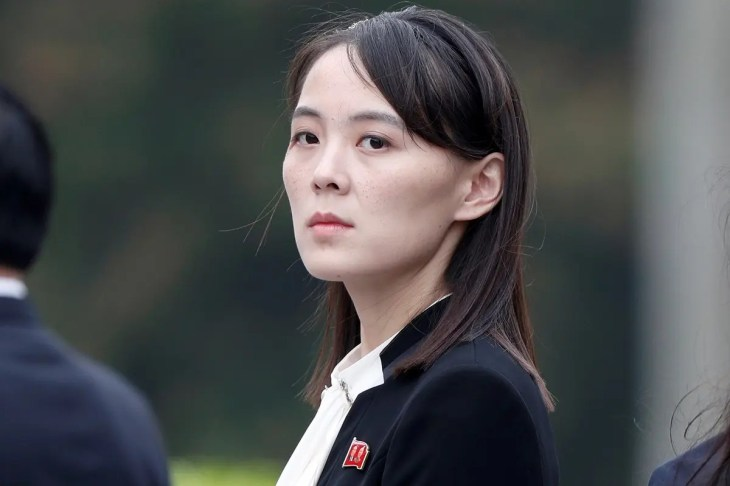 Kim Yo Jong, sister of North Korea's leader Kim Jong Un attends wreath laying ceremony at Ho Chi Minh Mausoleum in Hanoi. (Reuters)