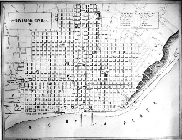 خريطة بيونس آيرس عام 1871
