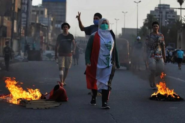 من وسط بغداد (أرشيفية- فرانس برس)